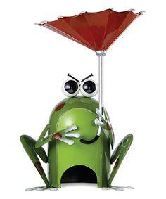 Loving this Get Happy Frog Bird Feeder & Toad House on #zulily! #zulilyfinds