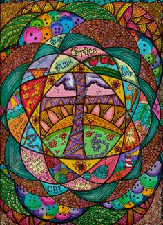 Reserved For Debi Hippie Art Mandala Originals by DawnCollinsArt, $25.00