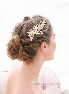 Bridal Hair Vine Pearl and Flower Vintage by BeSomethingNew