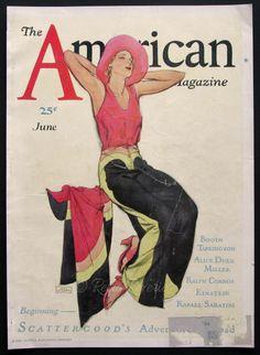 1930 John La Gatta Illustration The American by RetroReveries