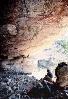San Borjitas cave paintings, Baja California Sur, Mexico.