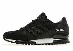 Adidas ZX 750 Black/ Dark Shale Trainers