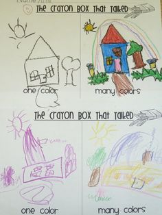 the crayon box that talked...simple activity for preschool