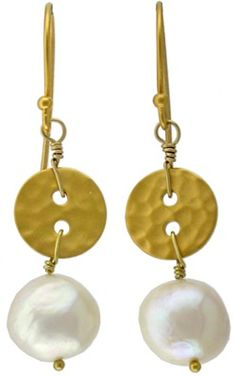 Gold Buttons and silver buttons make adorable jewelry links for necklaces and earrings. Love these from @Nina Designs .com