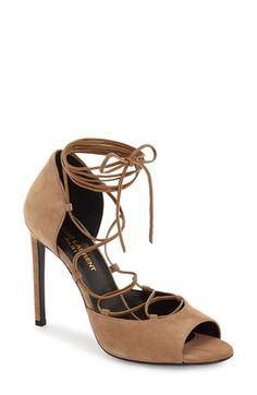 Saint Laurent 'Kate' Lace-Up Sandal (Women) available at #Nordstrom