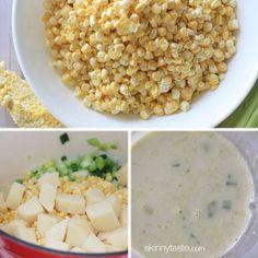 Creamy Corn Soup with Queso Fresco and Cilantro | Skinnytaste