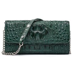 Add a glamorous touch to your outfits by carrying this stylish crocodile leather purse from BRUCEGAO. Club this genuine crocodile leather clutch purse with your party outfits and get complimented for your amazing choice. Best Leather Wallet, Leather Clutch Bags, Leather Purses, Leather Wallets, Purses For Sale, Purses And Bags, Womens Designer Purses, Stylish Handbags, Clutch Wallet