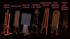 Rob's Sims - All EA easels made portable #Sims3