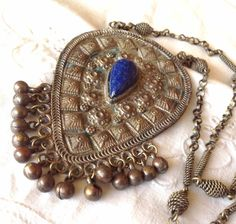 Ethnic Tribal Necklace  Looks to be a blue Lapis by boomerville