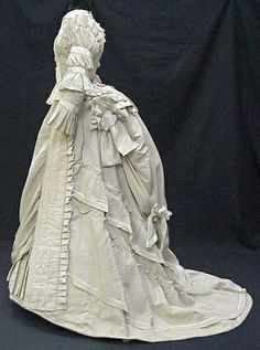 1870s White Gown