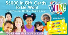 http://woobox.com/5u7gso/jd5u9p Tell us in 25 words or less what you would spend the Gift Cards on to go into the draw to win!