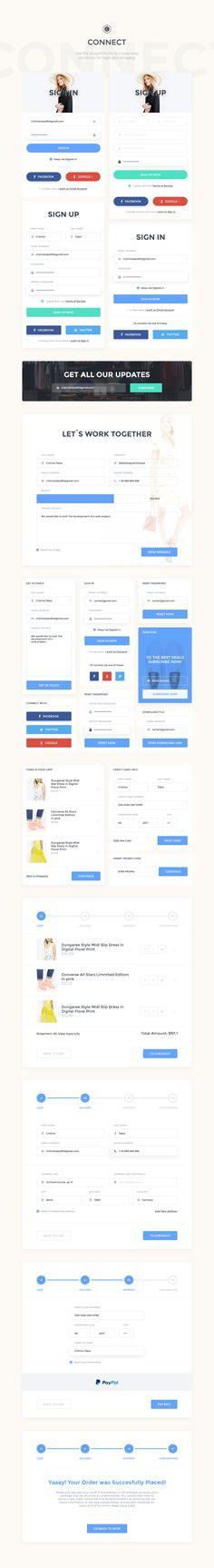 Comet Ecommerce UI Kit by Comet Shop on @creativemarket