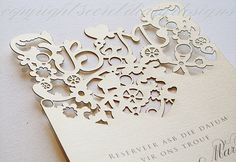 lasercut invitations #whimsical