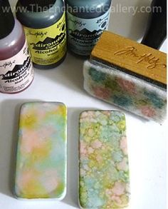 Alcohol inks are one of the most versatile pigments you can apply for all sorts of crafts and also for jewelry making!  They can be combined and applied in different ways to achieve a variety of effec