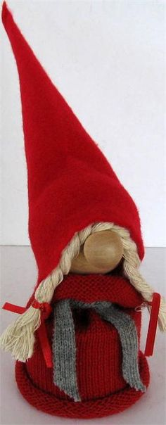 Classic Swedish Christmas tomte woman