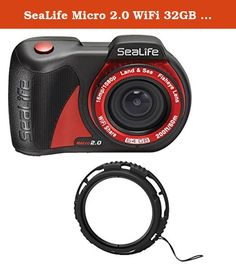 "SeaLife Micro 2.0 WiFi 32GB w/ 10x Lens. Small and ergonomic, the Micro 2.0 camera is easy to handle underwater, operating with three wide ""Piano Key"" controls. Features SONY® 16MP CMOS Image Sensor for stunning still images, full 1080p HD video and a built-in 130-degree Fisheye Lens, the Micro 2.0 provides everything needed to capture and share your underwater encounters down to 200 feet/60 meters. Permanently sealed and flood-proof The Micro 2.0 has no doors or openings that could…"