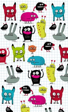 Elise Gravel illustration • #monster #pattern #cute #drawing #children #fun