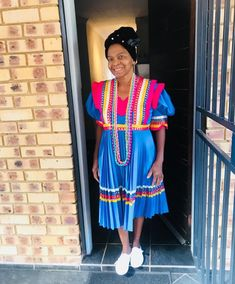 Pedi Traditional Attire, Sepedi Traditional Dresses, Traditional Weddings, African Print Fashion, African Fashion Dresses, African Prints, African Wear, African Style, African Wedding Attire