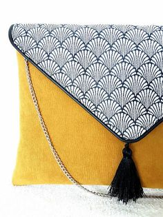 Clucthebag Mustard collection made in France. Boho chic