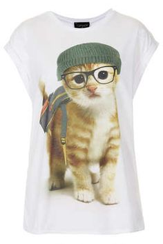 Backpack Cat Tee