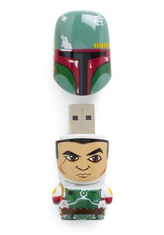 Store Trooper USB Flash Drive in Boba Fett. Take your files far, far away with this collectors USB key - a miniature clone from the Star Wars cast! #multi #modcloth
