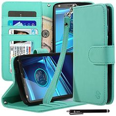 Droid Turbo 2 Case, Style4U Motorola Droid Turbo 2 / Moto X Force Premium PU Leather Stand Wallet Case with ID Credit Card / Cash Slots for Motorola Droid Turbo 2 XT1580 + 1 Stylus [Mint Green] Style4U http://www.amazon.com/dp/B019Z1J5UA/ref=cm_sw_r_pi_dp_uOQNwb0AGM86T