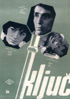 """Mihovil Šimunić, plakat filmskog omnibusa """"Ključ"""", 1965."""