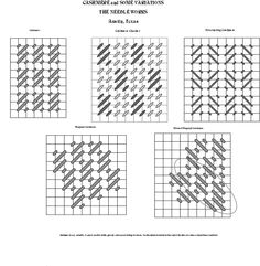 Cashmere Stitch variations