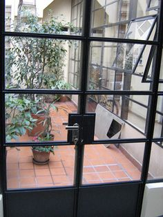 Trendy Wall Brick Color Window - All About Balcony Iron Windows, Windows And Doors, Patio Interior, Interior And Exterior, Saint Victor, Casa Patio, French Windows, Antique House, Brick Colors