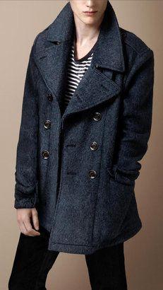 ShopStyle: Wool Blend Pea Coat