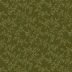 Buggy Barn Green Vine Quilting Fabric   Half by PrimitiveQuilting, $5.50