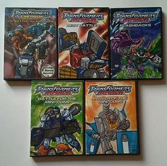 Transformers Armada Energon DVD Lot Set Hasbro Best Battles Mini-Cons Flashbacks
