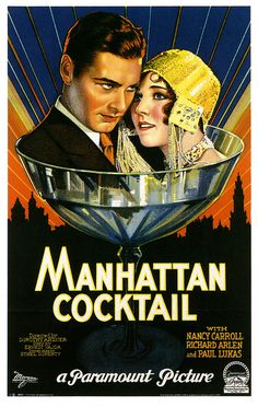 Manhattan Cocktail (1928). #vintage #movies #posters #1920s