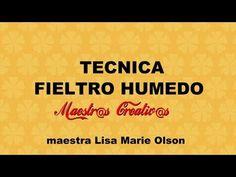 Fieltro mojado Nuno Felting, Needle Felting, Felt Hat, Do Everything, Tapestry, Make It Yourself, How To Make, Videos, Youtube