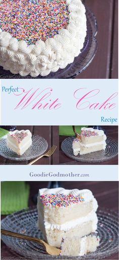 This white cake recipe is the perfect combination of fluffy and