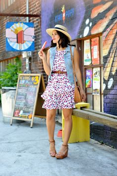 Cooper and Ella cherry print dress - summer outfit ideas - My Style Vita /mystylevita/ Casual Work Outfits, Summer Outfits, Dress Summer, Watermelon Dress, Warm Weather Outfits, Petite Fashion, Spring Summer Fashion, Style Inspiration, Style Ideas