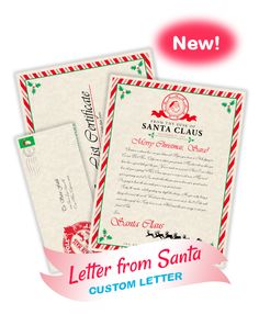 A Personalized Letter From Santa   Pinteres
