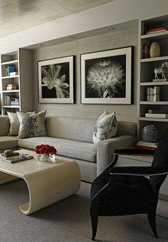 sala elegante gris