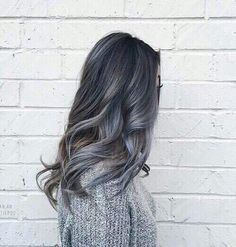Image discovered by °ʚ(*´꒳`*)ɞ°. Find images and videos about hair, hairstyle and grey on We Heart It - the app to get lost in what you love. Hair Inspo, Hair Inspiration, Trends 2016, Good Hair Day, Dream Hair, About Hair, Ombre Hair, Hair Dye, Gorgeous Hair