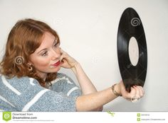 Vinyl Record Girl - Download From Over 55 Million High Quality Stock Photos, Images, Vectors. Sign up for FREE today. Image: 53510016