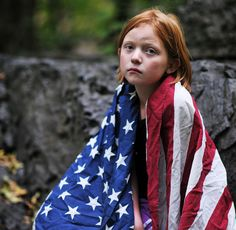 Girl and american flag 2013 2