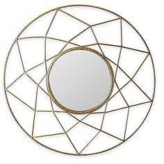 Abbyson Living's Marie Mirror appears to suspend in an intricate iron web-like frame full of eye-catching geometry. The center clear glass features silver backing to enhance its beauty. This piece makes a lovely focal point and conversation piece.