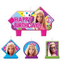 Barbie Birthday Candles 4ct - Party City