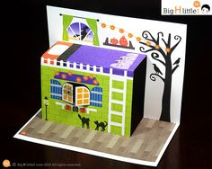 Halloween Toy Halloween Crafts Paper Craft by BigHlittlei Cool Paper Crafts, Vbs Crafts, Diy And Crafts, Crafts For Kids, Cardboard Box Houses, Paper Houses, Halloween Toys, Halloween Costumes, Up House