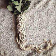 From my shop: Macrame Wedding Bouquet Wrap for the Boho Bride // Bohemian Vase Wrap // Boho Wedding Decor // Flower wrap wedding bouquet Macrame Wedding Bouquet Wrap for the Boho Bride // Boho Wedding Decor // Bohemian Wedding Bouquet Wrap // Plant Decor Boho Decor Diy, Boho Wedding Decorations, Wedding Centerpieces, Wedding Bouquets, Wedding Ideas, Wedding Planning, Diy Wedding, Pagan Wedding, Wedding Shot