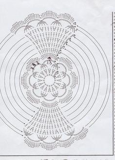 Best 12 Lady with crochet: Małe aniołki i anielskie inspiracje – wzory – SkillOfKing.Com Crochet Angel Pattern, Crochet Angels, Crochet Flower Patterns, Crochet Flowers, Crochet Chart, Knit Or Crochet, Crochet Doilies, Crochet Stitches, Crochet Christmas Ornaments