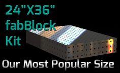 FabBlock Kit - CertiFlat FB2436 FabBlock U-Weld Kit Modular Welding Table
