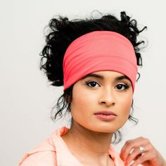 Gym Wrap | Coral Moisture Absorbing Head Wrap | Grace - One size fits most / Please allow 1-2 weeks for delivery