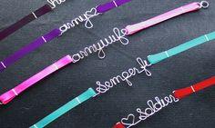 I want this Semper Fi bracelet! too cute!