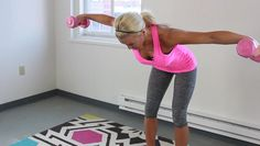 To target that pesky back fat that pokes over your bra, Skinny Mom creator Brooke Griffin has the perfect workout for you! Grab a set of dumbbells and push play to blast that back fat away.